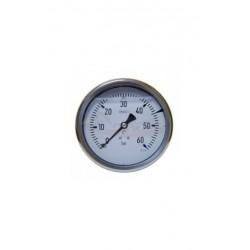 """Manómetro glicerina INOX. Ø 100 MM. 0-60 BAR. POSTERIOR 1/2"""""""