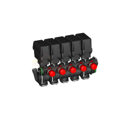 Grupo válvulas de sección modulares 863T con retorno calibrado ARAG - 863T0150