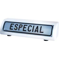 PLACA DE TRANSPORTES ESPECIALES PLASTICA