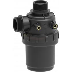 """Filtro aspiración 60L/min con válvula 1""""1/4 32 mesh ARAG - 3102058"""