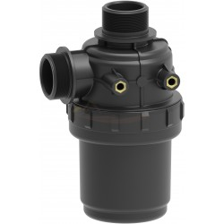 """Filtro aspiración 60L/min con válvula 1""""1/4 32 mesh ARAG - 3102158"""