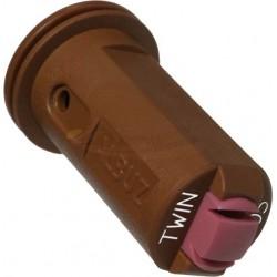 Boquilla AVI TWIN doble chorro cerámica antideriva 110º (Caja de 5 unidades) - Albuz