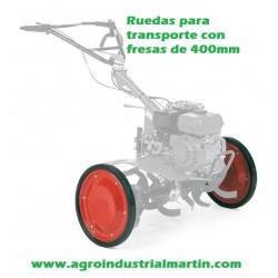 Juego de ruedas 400mm  de transporte para fresa