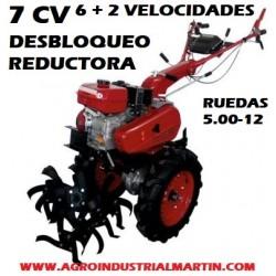 Motoazada PROFESIONAL SPORT GARDEN MZ 800S 7 CV CON REDUCTORA Y DESBLOQUEAJE DE EJES