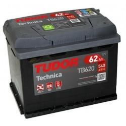 Batería Tudor Technica TB620 – 62Ah 12V 540A.