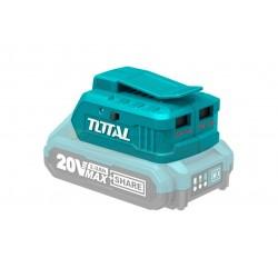 CARGADOR USB TIPO POWERBANK (2 SALIDAS) PARA BATERÍA 20V TOTAL - P20S