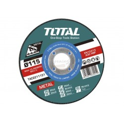 CAJA 10 DISCOS CORTE METAL AMOLADORA 115mm 1.2mm - TAC2211155